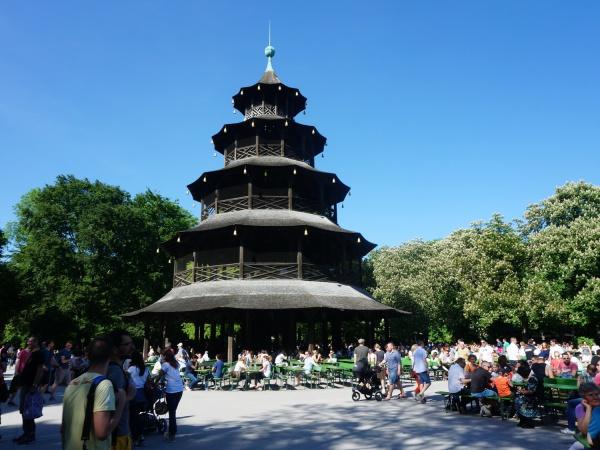 Munich Beer Gardens Chinesischer Turm
