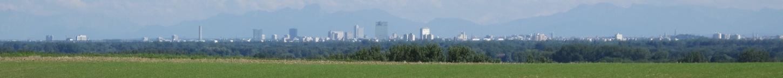 Blick auf München vom Berg direkt hinter dem Biergarten.